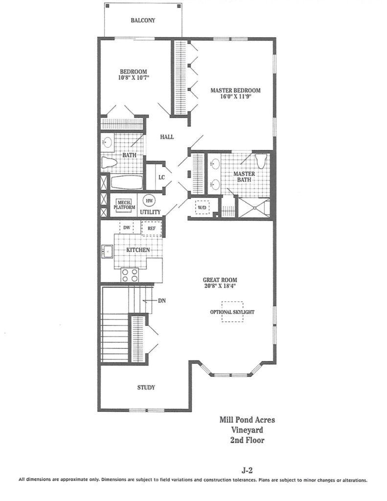 Vinyard 2nd floor plan