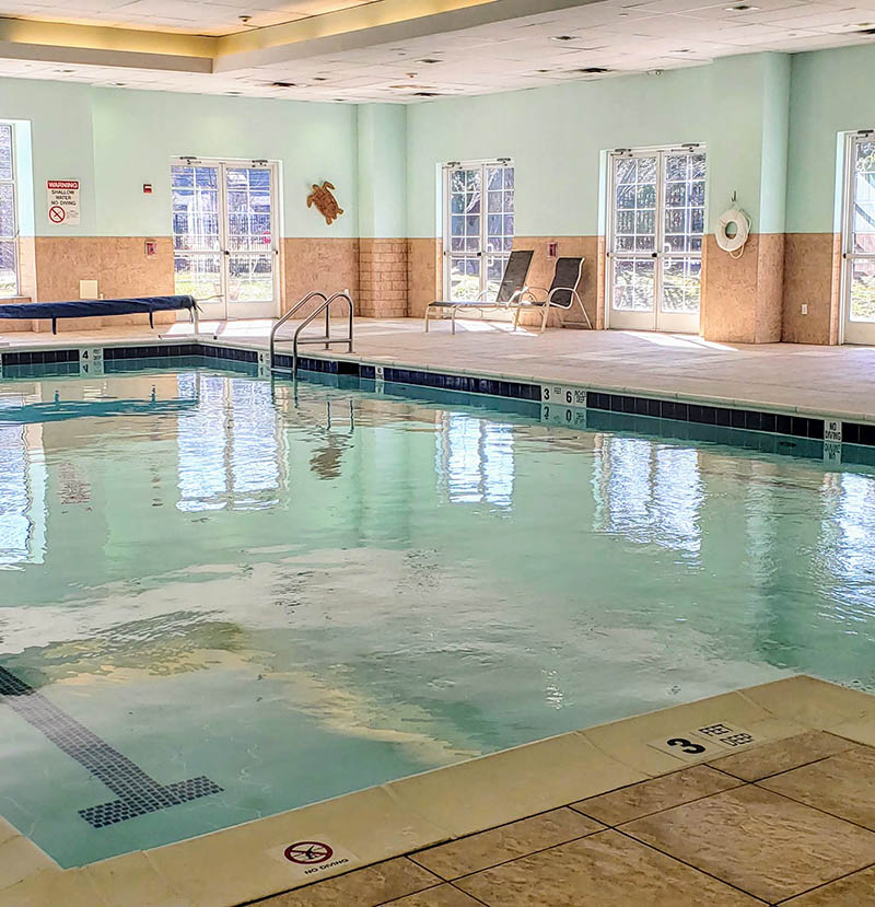 indoor pool at Mill Pond Acres