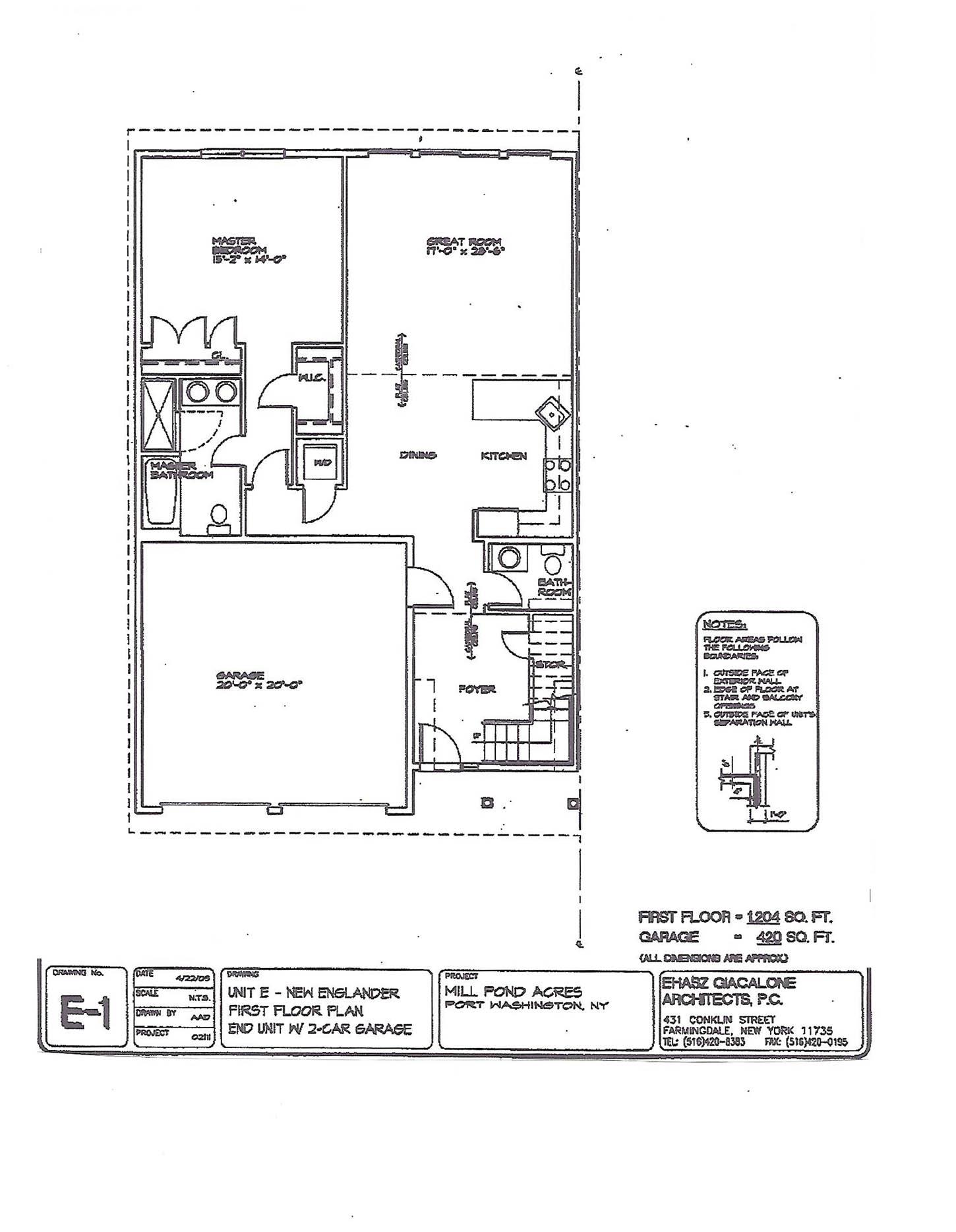 New England Townhouse floor plan