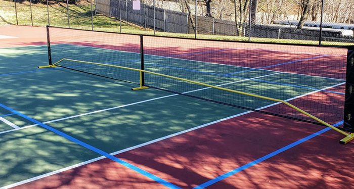 Pickleball courts at Mill Pond Acres